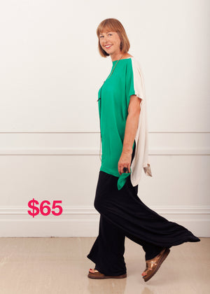 SALE Slash Neck Slouch Green