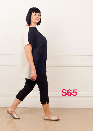 SALE Slash Neck Slouch Navy