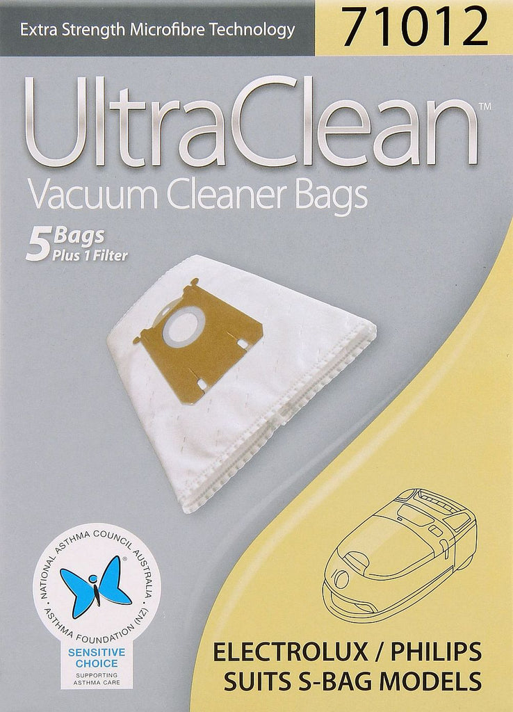Ultraclean 71012 Electrolux Philips S- Bag Models