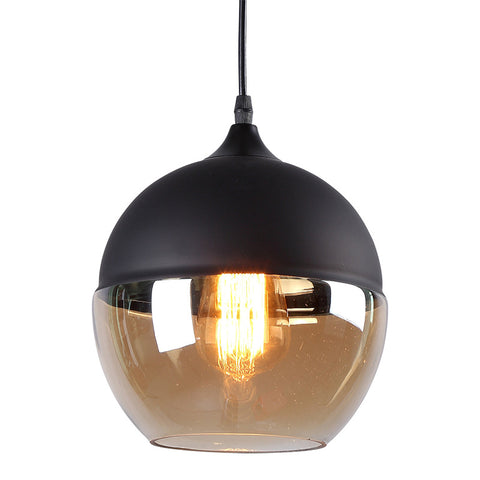 Dual-toned metal glass pendant lamp: PL033
