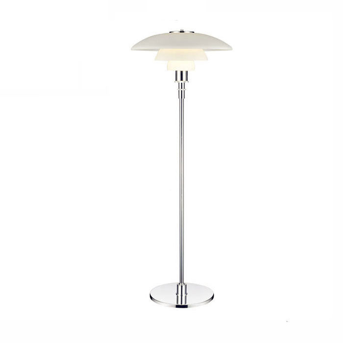 3 shade glass floor lamp: FL012