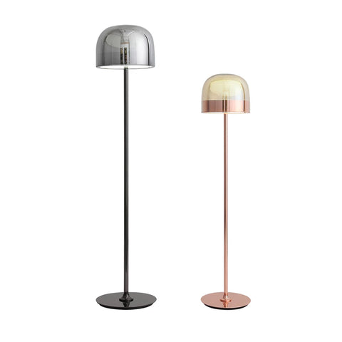 Inverted bowl glass floor lamp: FL098