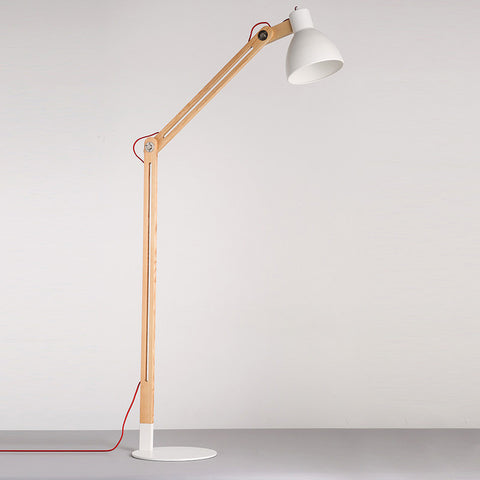 Antique wooden floor lamp: OGS-SL38