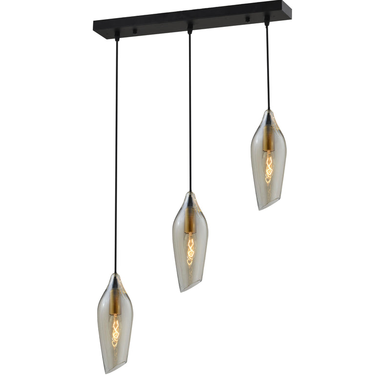 Pendant Lamp: Finnish Designer Glass- P61021CN/3L2 - ESTLights Decorative Series