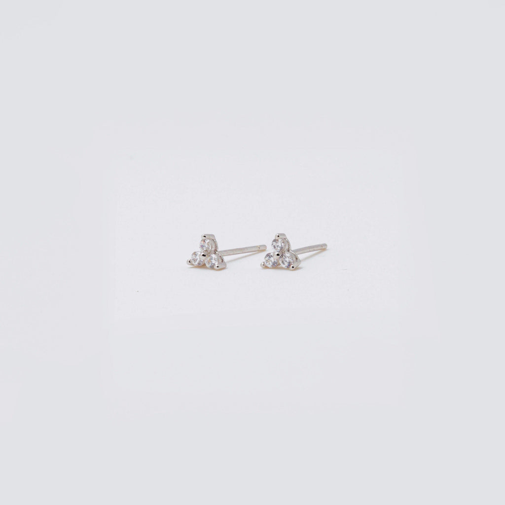 Mini Triple CZ Stud (Sold Individually) - ShopHannaLee