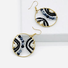 Load image into Gallery viewer, Beaded Wheel Earring - ShopHannaLee