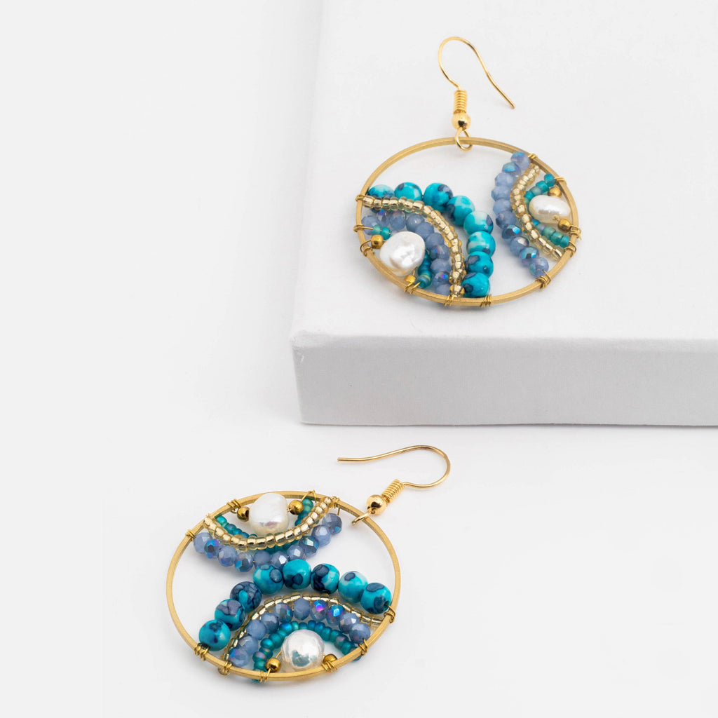 Beaded Wheel Earring - ShopHannaLee