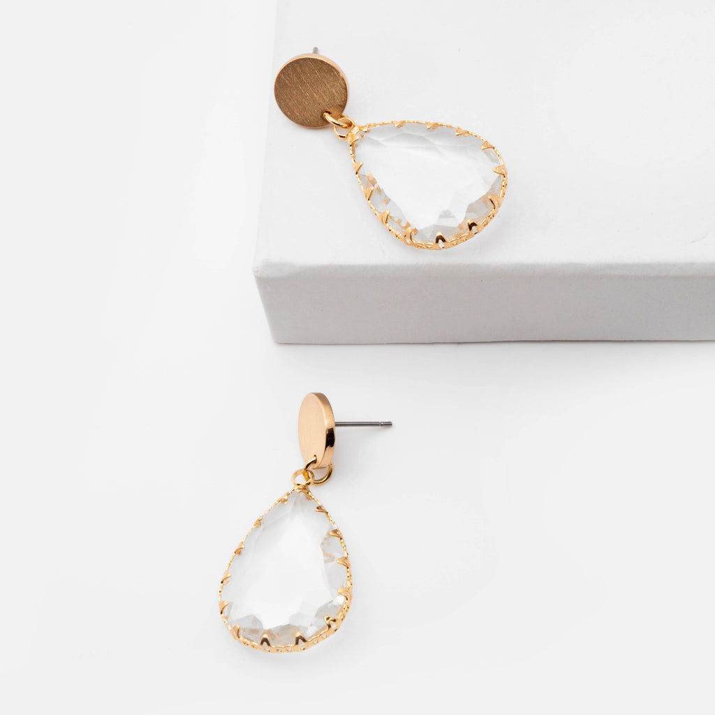 Crystal Pear Earrings - ShopHannaLee
