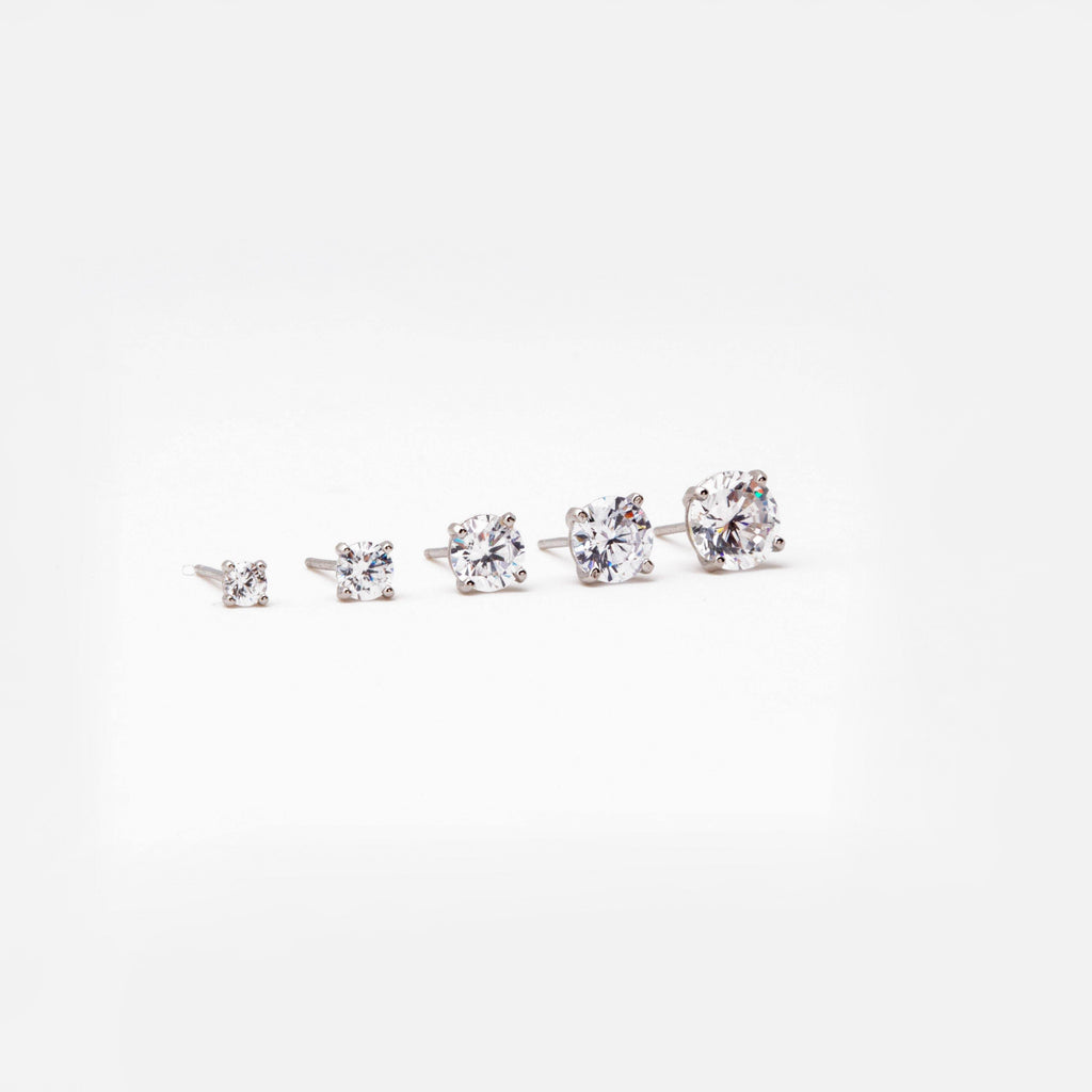 Solitaire Prong Ear Studs (Sold Individually) - ShopHannaLee