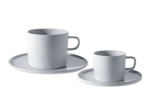 A di Alessi PlateBowlCup Saucer for Tea Cup, Set of 4, (AJM28/79)