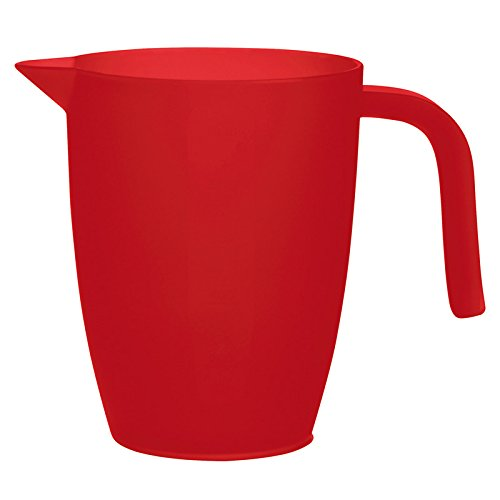 Excelsa Rainbow Measuring Pitcher Jug 1 Litre, Red