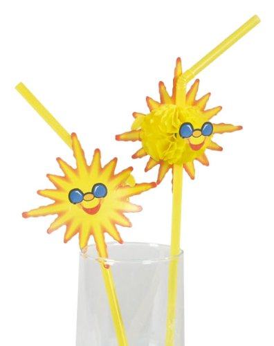 Kögler 221115 Bendy Straws Sunshine Pack of 50 with Display Box Yellow