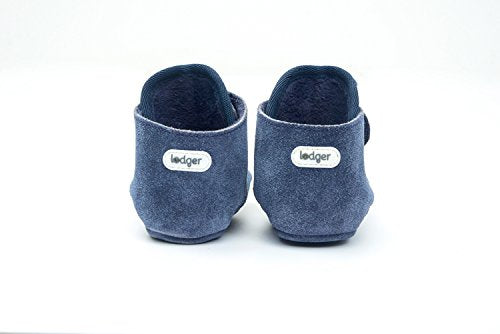 Lodger Leather Shoes Basic Walker (15 to 18 m, Denim Blue)