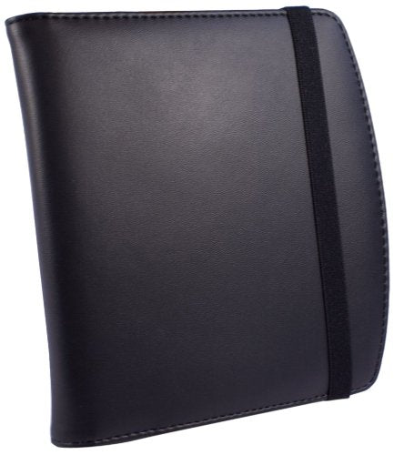 Tuff-Luv Genuine Leather Embrace Case, Cover and Stand for Pocketbook 360 - Black