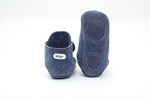 Lodger Leather Shoes Basic Walker (6 to 12 m, Denim Blue)