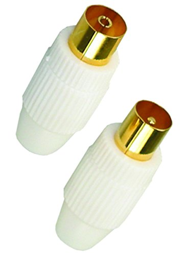 APM 2 TV Connector Plugs 9.52 mm ( 1 Male / 1 Female ) Gold-Plated Contacts