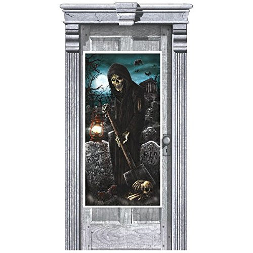 Amscan International 241155 1.65 m x 85 cm Haunted House Door Decorations Kit