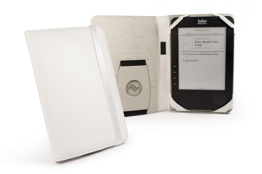 Tuff-luv Case for Nexus 7 Kobo Touch - White