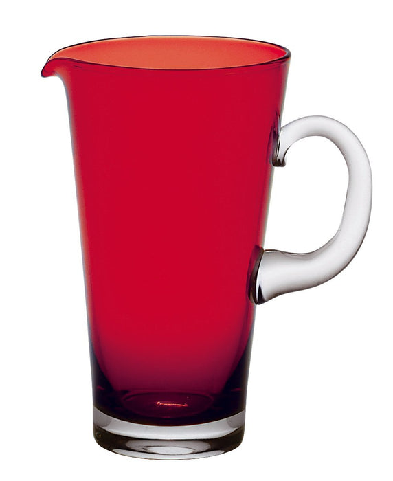 Vidivi Vetri delle Venezie 66898 Nadia Blown Glass Jug, Red, 1.35 L