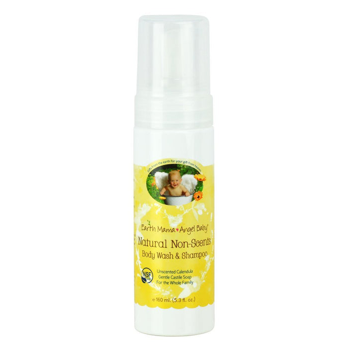 Earth Mama Angel Baby Natural Non-Scents Shampoo and Body Wash 160ml