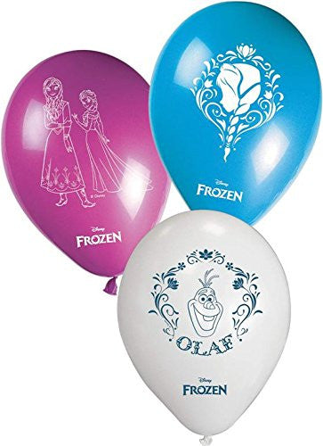 "11"" Disney Frozen Balloons, Pack of 8 in Pink/Blue/White"