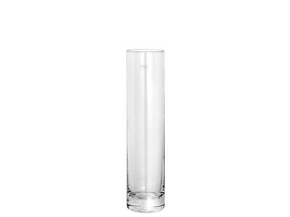 H & H 30902 Cylindrical Glass Vase, 5 X 20 cm, transparent