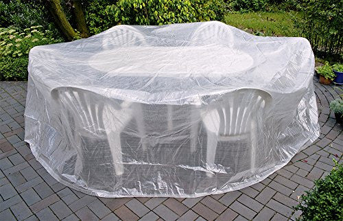 Happy People 79274 Round Garden Furniture Set Cover Transparent