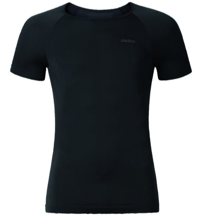 Odlo Men's Crew Neck Evolution X-Light Short Sleeve Shirt - Black, Large