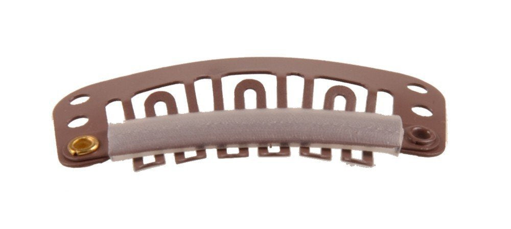 Solida Toupet Comb/Rubber 2.30 x 1.10 cm brown Pack of 1