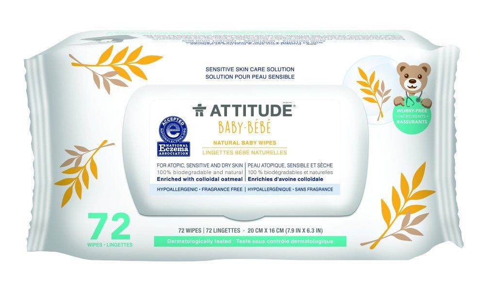 Attititude Sensitive Skin Natural Baby Wipes