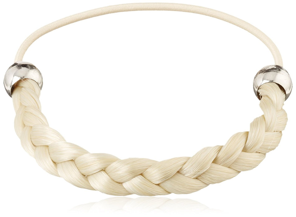 Solida Kunsthaarzopfabbinder Mary, Classic Braided with Elastic Strap, 6.00 cm Colour 1 A Light Blonde, (Pack of 2)