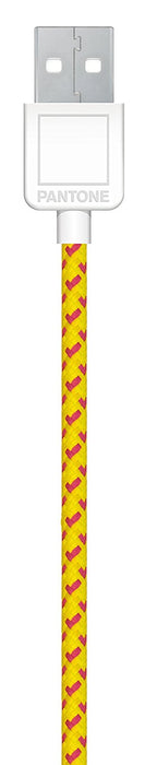 Pantone Fabric Micro USB Data Transfer and Charging Cable - PA-CAB-UF02 - Yellow