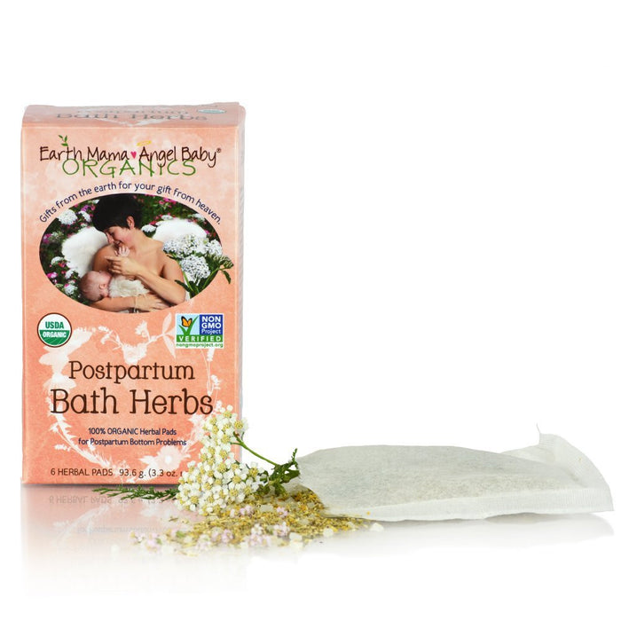 Earth Mama Postpartum Bath Herbs Pads Pack of 6