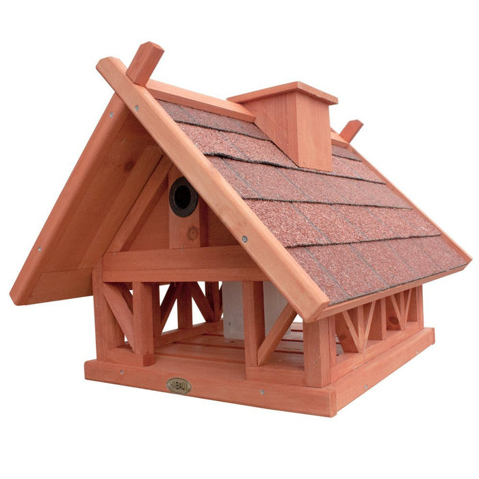 Habau Island Birdhouse with Feeder and Perches