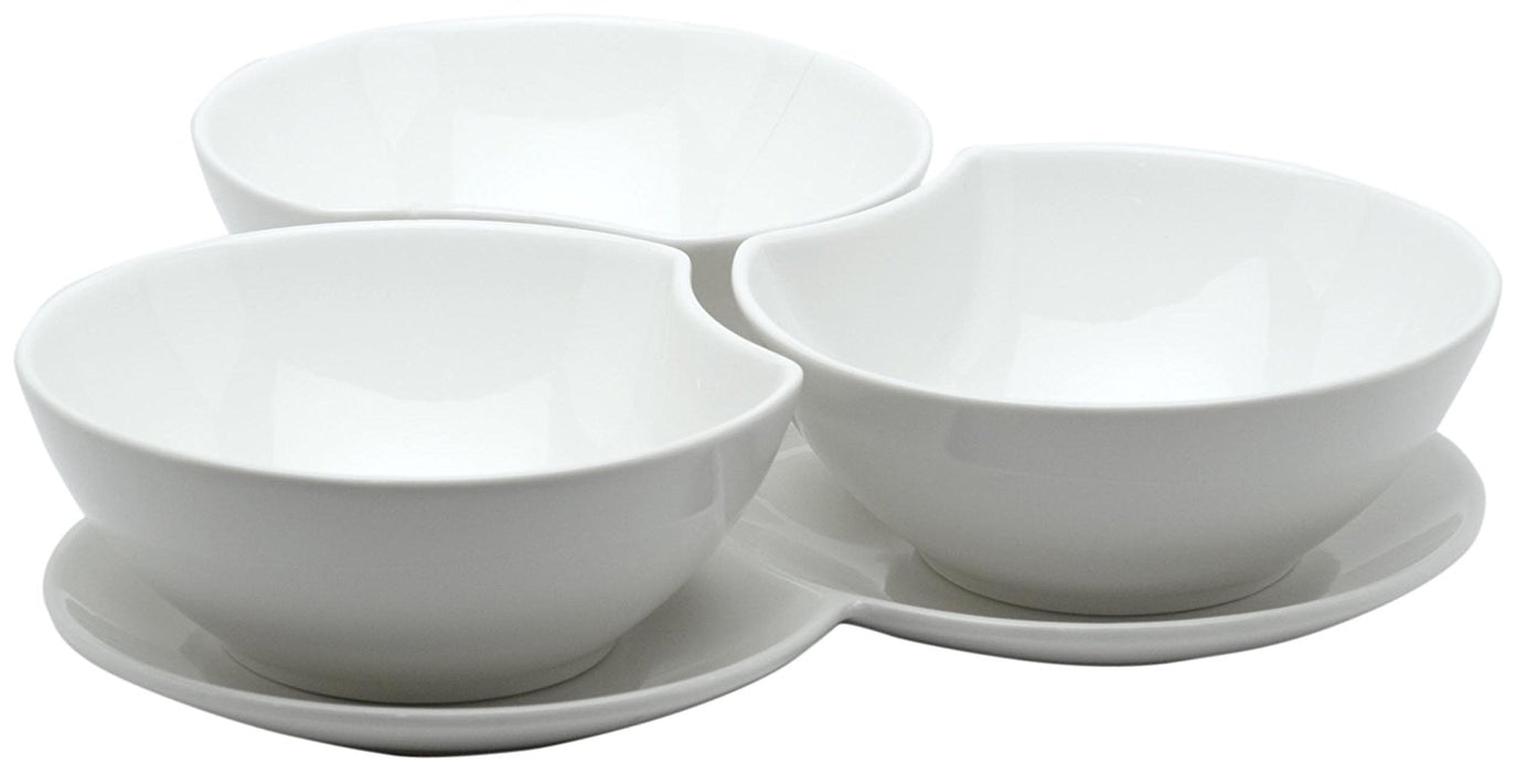 Red Vanilla Vanilla Fare 3 Bowls with Tray