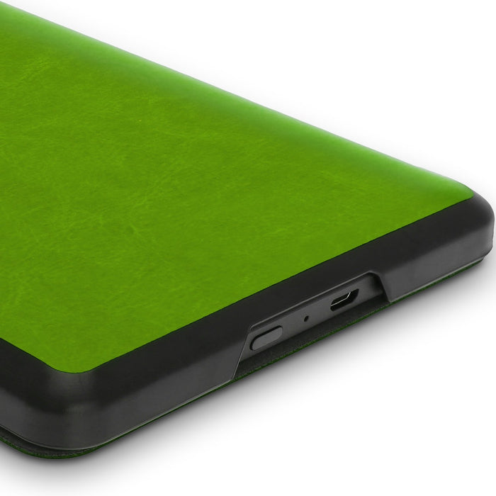 iGadgitz Slim PU Leather Shell Case Cover for New Amazon Kindle 2014 7th Generation - Green