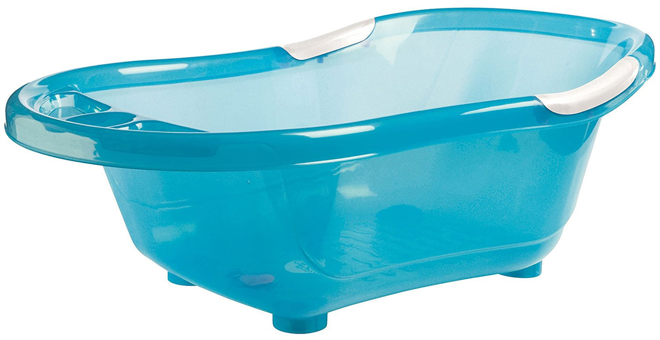 dBb Remond 306049 Translucent Bathtub with Plughole and Non-Slip Handles Turquoise
