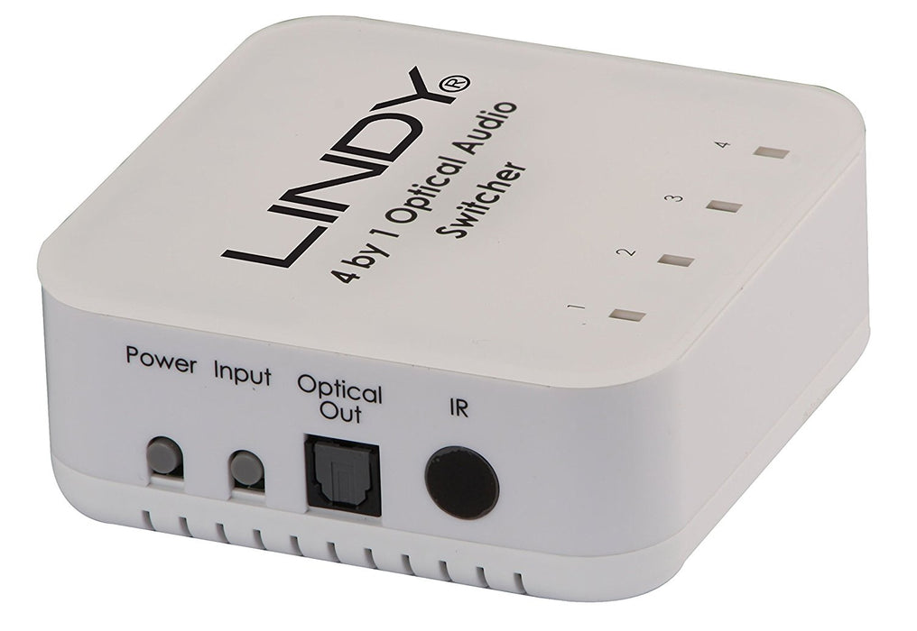 LINDY 4 Way TosLink Digital Optical Audio Switch