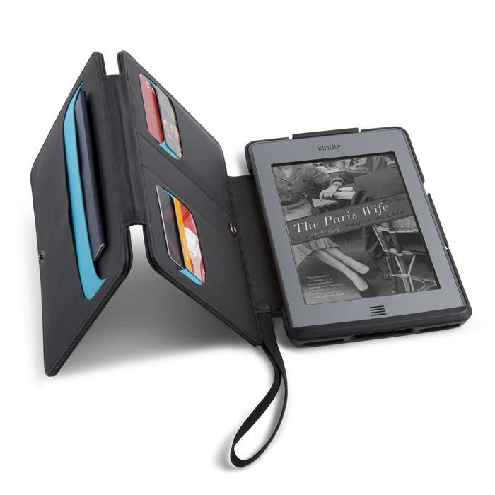 Speck WanderFolio Case Cover with Hideaway Pockets and Closing Tab for Kindle Touch (2011/2012) - Black/Blue