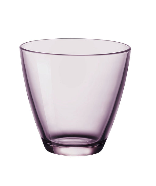 Bormioli Rocco 383430 V42021990 Zeno Set of Water Glasses, 26 cl, Lilac