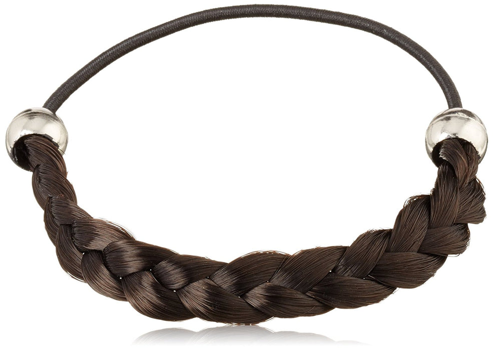 Solida Maria Artificial Hair Plait Classic Braided with Elastic Strap, 6.00 cm Diameter, Colour 6 – Dark Brown, Pack of 2