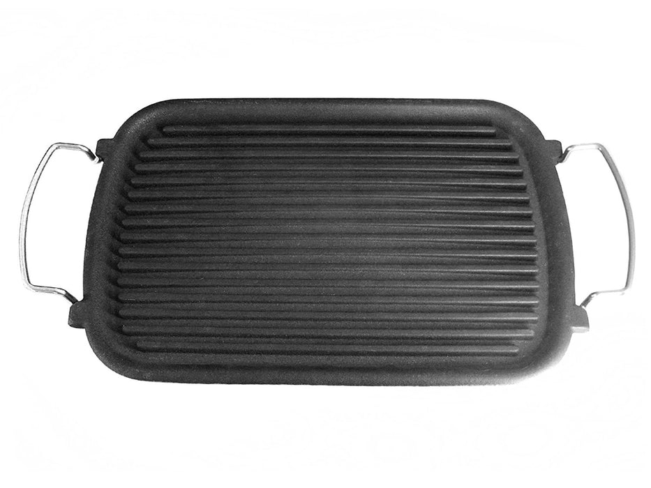 Ilsa Atollo Rectangular Grill Pan, made of Cast Iron, Charcoal, 24x37 cm