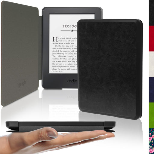 iGadgitz Slim PU Leather Shell Case Cover for New Amazon Kindle 2014 7th Generation - Black