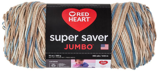 Coats Yarn Red Heart Super Saver Yarn Mirage, Paper, Multicoloured, 3-Piece