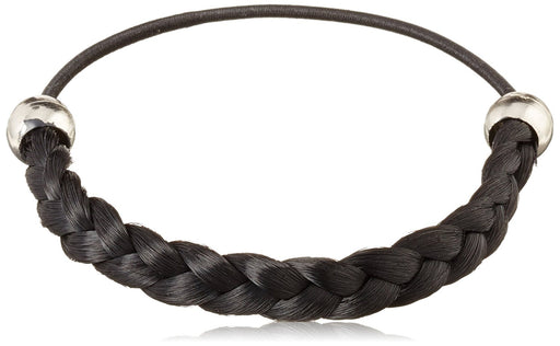 Solida Kunsthaarzopfabbinder Mary, Classic Braided with Elastic Strap, 6.00 cm Colour Size 7 - Black (Pack of 2)