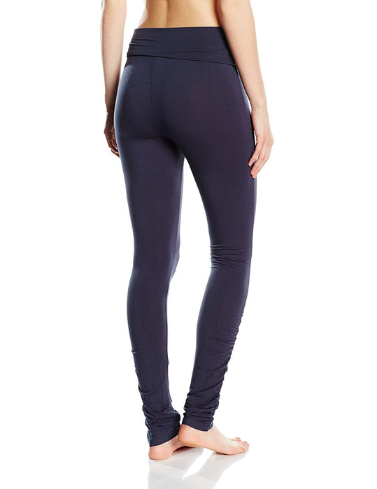 Curare Women's Yoga Leggings Roll-Down blue Night-Blue Size:M