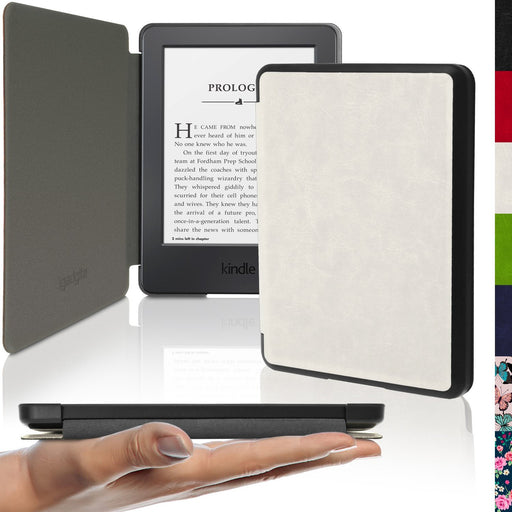 iGadgitz Slim PU Leather Shell Case Cover for New Amazon Kindle 2014 7th Generation - White