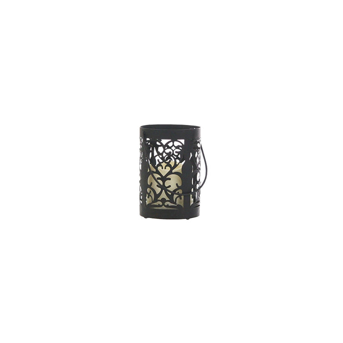 Greemotion Larissa Lantern with LED Candle 15 CM, Larissa Black