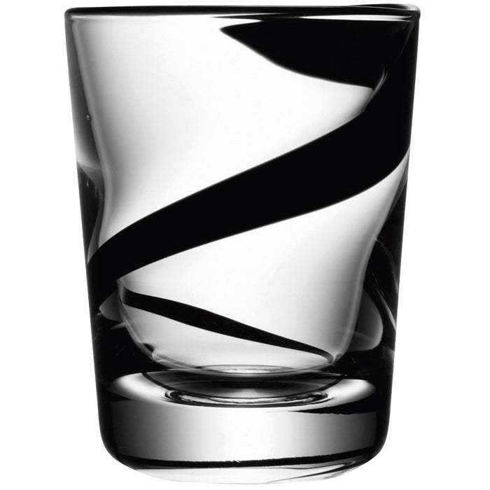 LSA International 250 ml Assorted Jazz Tumbler, Black (Pack of 4)