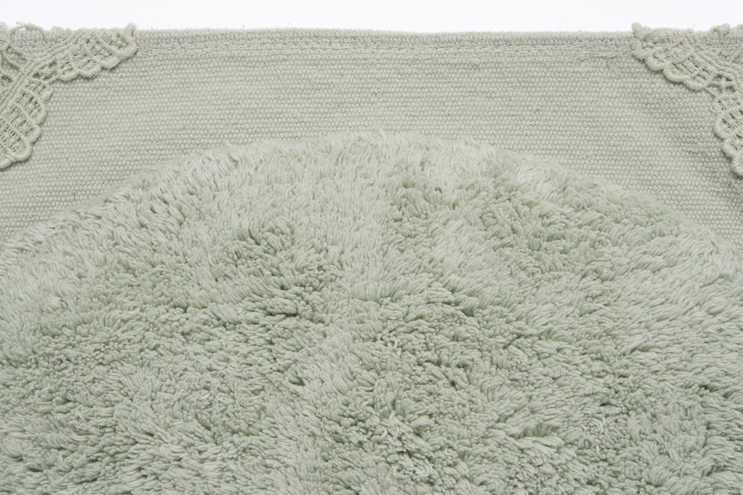A Home & Pure Fibre 1 Mishi Design Rug, 100% Cotton, Mint, 50 X 90 cm X 2 cm